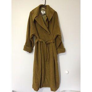 TREND LES COPAINS moss green wool coat size 40